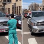 Medical Workers In Denver, Colorado Block Quarantine Protesters