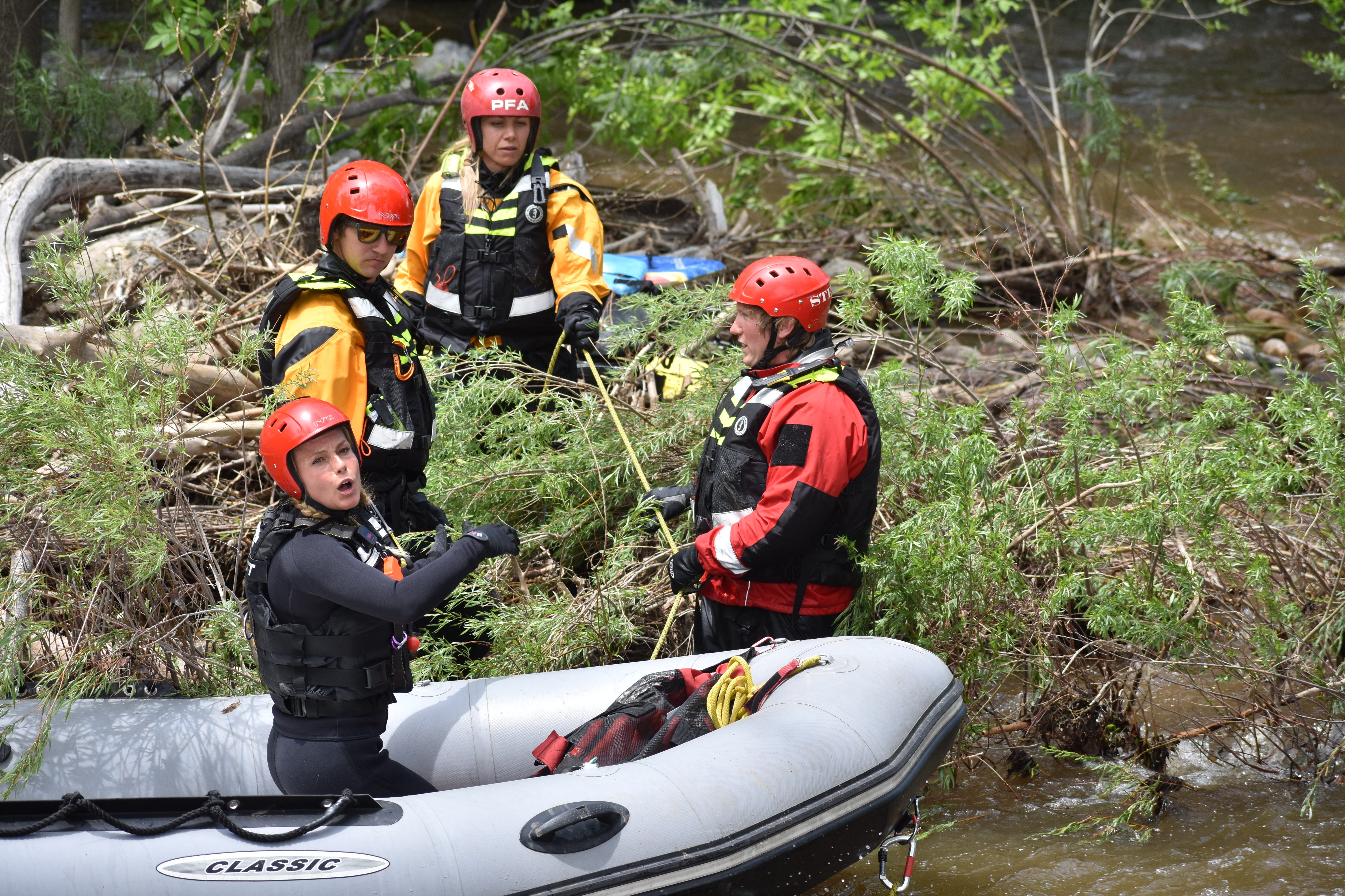 Colorado man airlifted from frigid river after tube flipped in rapids