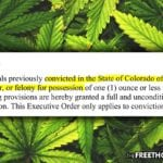 Finally! Colorado Grants Full, Unconditional Pardons to Thousands with Past Marijuana Convictions