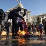 PHOTOS: Demonstrations at Colorado State Capitol on Inauguration Day