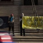 Anti-war protesters in Colorado Springs call for adherence to new U.N. treaty