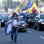 Trump caravan travels usual Rose Parade on Colorado Boulevard – Press Enterprise