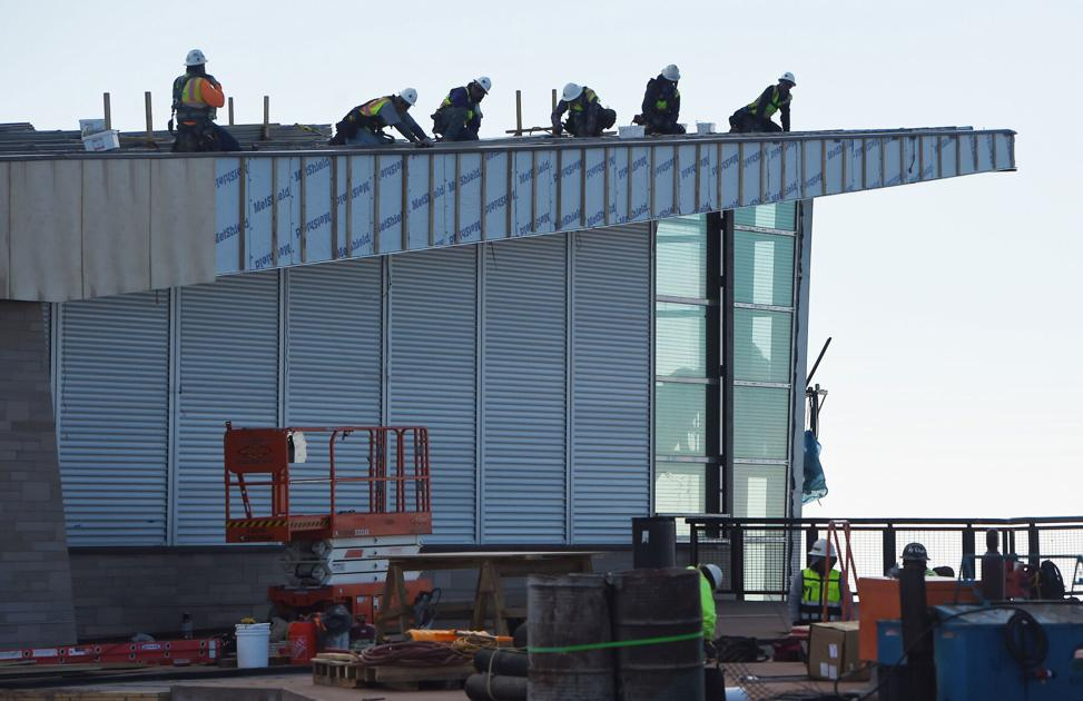 Construction crews race the clock to finish Pikes Peak Summit Visitor Center | OutThere Colorado
