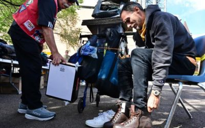Homeless veterans in Colorado Springs offered a hand up and a handout ahead of cold winter months